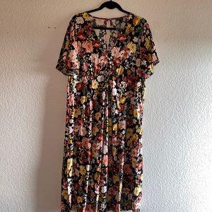 Torrid midi floral flowy dress